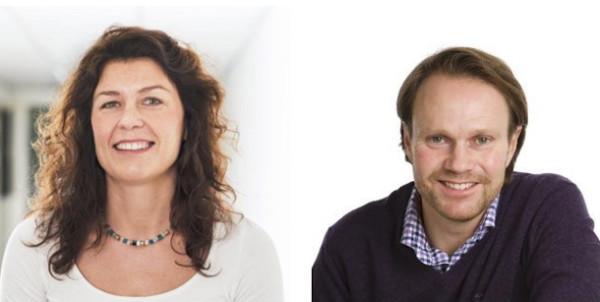 Maiken Skirstad Mo (t.v.) og Torgeir Kjos Sørensen tar til i sine nye jobber i august i år.