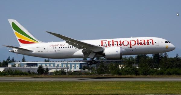 Ethiopian Airlines starter opp rute på Oslo lufthavn med sin Boeing 787-8 Dreamliner. (Foto: Ethiopian Airlines)