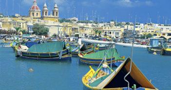 Kystbyen Marsaskala er blant severdighetene på Malta. (Foto: TUI)