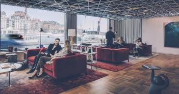 Nyrenovert lobby hos Radisson Blu Strand Hotel i Stockholm. (Foto: Rickard L. Eriksson)