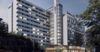 """Skisse av """"nye"""" Radisson Blu Atlantic Hotel."""